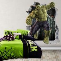 Vinyle décoratif 3d marvel super-héros hulk