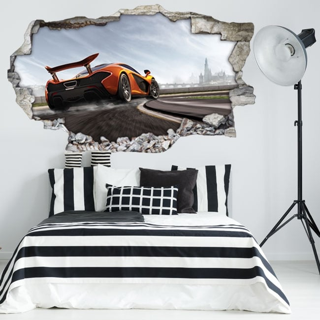 Vinyle décoratif 3d mclaren p1 forza motorsport