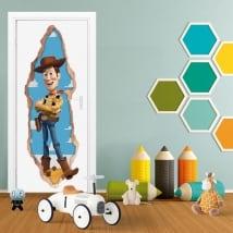 Vinyle pour enfants portes 3d woody toy story