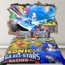 Vinyle 3d jeu vidéo team sonic racing