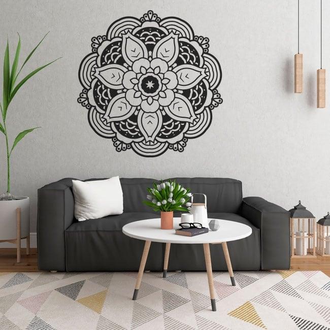 Stickers muraux mandalas à décorer