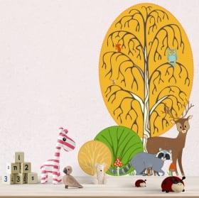 Vinyle pour enfants crocodile et palmier aquarelle