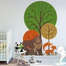 Vinyle décoratif animaux de la forêt