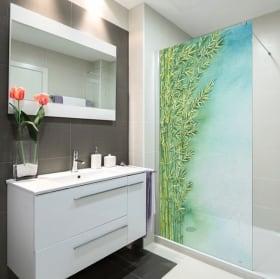 Vinyle écrans plantes de bambou aquarelle