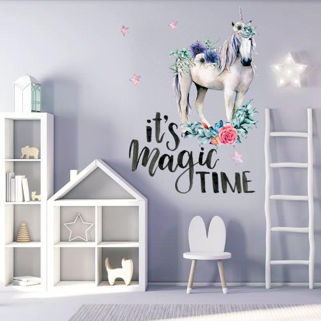 Vinyle décoratif licorne avec phrase en anglais