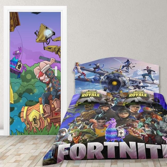 Vinyle pour portes jeu vidéo fortnite