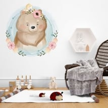 Vinyle pour enfants o des bébés ours et petit oiseau