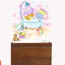 Vinyle pour enfants ou de les bébés les animaux se baigner