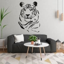 Vinyle et autocollants silhouette de tigre
