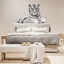 Stickers muraux silhouette de tigre