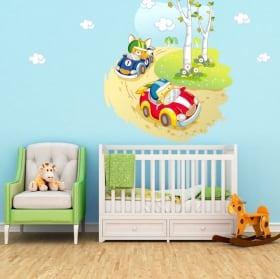 Vinyle et autocollants pour enfants ou bébé course de voiture