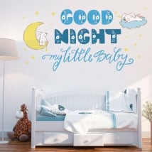 Vinyle pour enfants ou bébé phrase anglaise good night