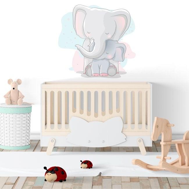 Vinyle décoratif pour enfants ou bébé les éléphants