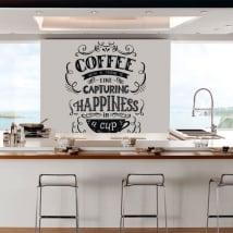 Vinyle et autocollants de cuisine phrase anglaise coffee