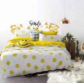 Vinyle têtes de lit emoji smile émoticône
