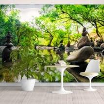 Murales de vinyle paysage pierres zen meditation