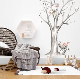 Stickers muraux enfant ou bébé koalas à l'aquarelle