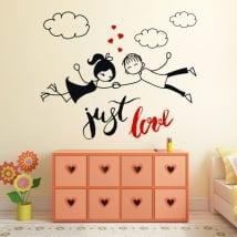 Vinyle décoratif et des autocollants phrase anglaise just love