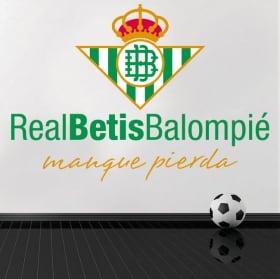 Vinyle football real betis balompié bouclier