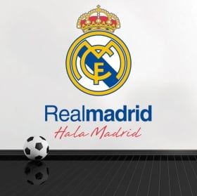 Vinyle football real madrid bouclier