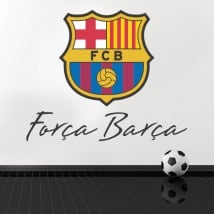Vinyle et autocollants de football club barcelone