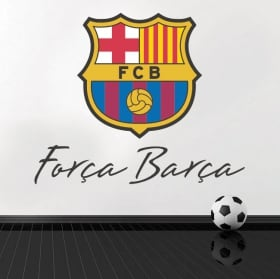 Vinyle club de football barcelona bouclier