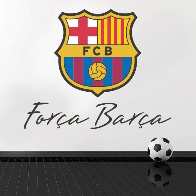 Vinyle et autocollants de football club barcelone