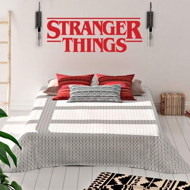 Vinyle et autocollants logo série tv stranger things