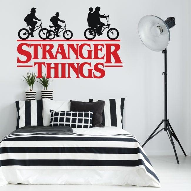 Vinyles et stickers séries tv stranger things