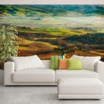 Murales de vinyle nature et montagnes de toscane italie
