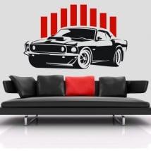 Vinyle décoratif ou des autocollants voiture mustang