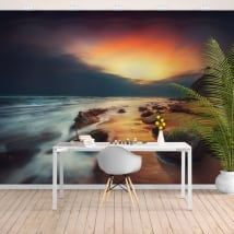 Murales de vinyle lever du soleil sur la plage de soleil sur la plage