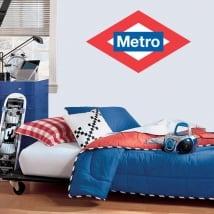 Vinyle décoratif ou autocollants logo métro madrid