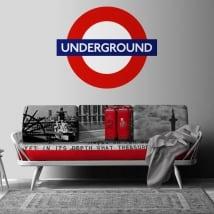 Vinyle décoratif sous terre métro de londres