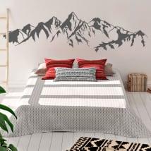 Vinyle décoratif pour mur les montagnes