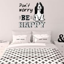 Vinyle décoratif phrase anglaise don't worry be happy