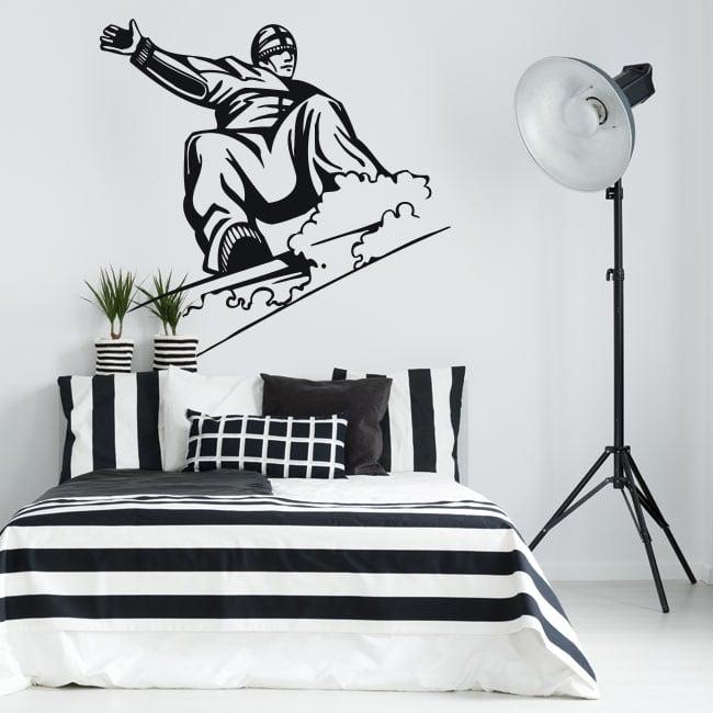 Vinyle décoratif et des autocollants snowboard
