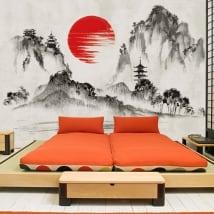 Peintures murales de vinyle art du japon
