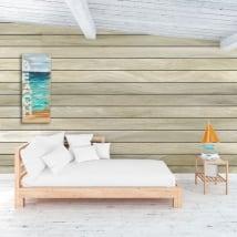 Peintures murales de vinyle effet bois