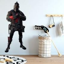 Autocollants en vinyle de fortnite chevalier noir