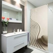 Vinyls écrans de salle de bains pierre zen