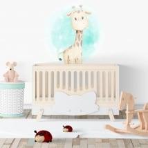 Vinyle pour enfants ou bébés girafe