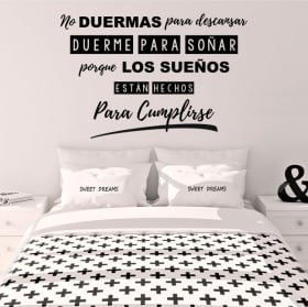 Vinyle décoratif phrase dormir pour rêver