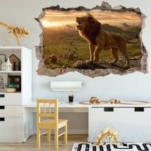 Vinyle décoratif et stickers 3d le roi lion
