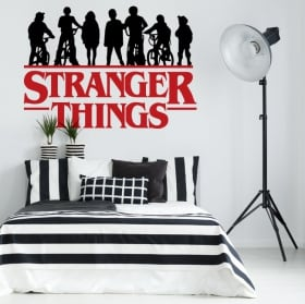 Vinyles et stickers séries tv stranger things