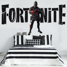 Stickers muraux chevalier noir fortnite
