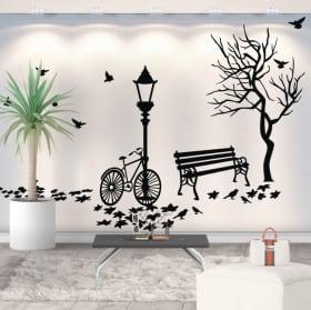 Vinyle décoratif l'automne à vélo