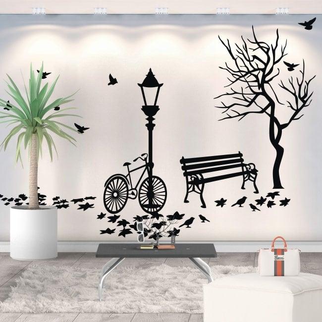 Vinyle décoratif paysage automnal