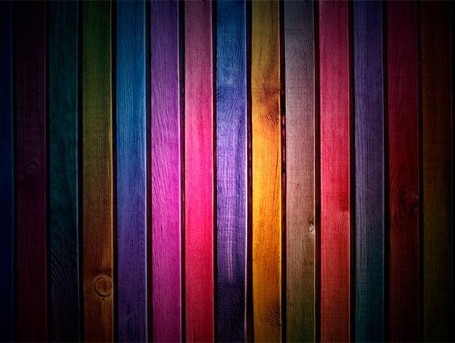 Peintures Murales Imitation Bois Multicolore