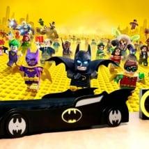 Peintures murales de vinyle batman lego
